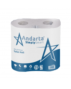Andarta 2Ply 320 Sheet Toilet Roll (Pack 36)