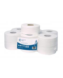 Andarta 2Ply 150m 76mm Core Mini Jumbo Toilet Roll (Pack 12)