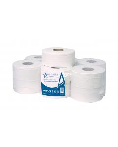 Andarta 2Ply 200m 76mm Core Mini Jumbo Toilet Roll (Pack 12)