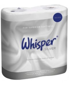 Whisper Silver 2Ply Soft Touch Toilet Roll (Pack 40)