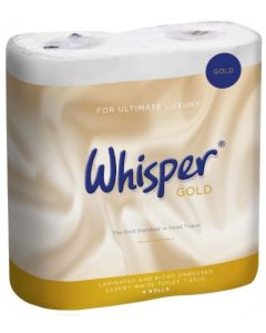 Whisper Gold 3Ply Soft Touch Toilet Roll