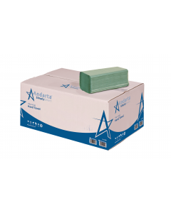 Andarta 1Ply Green V/Fold Hand Towel (Box 5000)