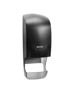 Katrin System Toilet Roll Dispenser Black With Core Catcher