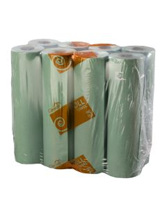 1ply Green Hard Wound Roll (76m)