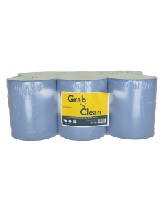 Grab n Clean 1ply Blue 550 Sheet Roll