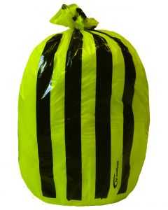 Yellow Tiger Stripe Refuse Sack 9x17x26 (1x Roll of 50)