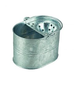 15Ltr Galvanised Mop Bucket