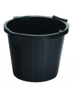15Ltr Plastic Bucket Black