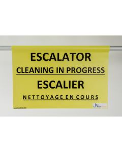Escalator Closed for Cleaning - Hanging Sign