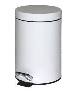 3Ltr Metal Pedal Bin White