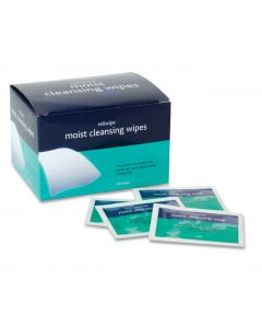 Saline Sterile Moist Cleansing Wipes Pack of 100 (Pack 100)