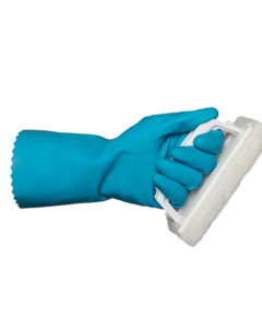 Rubber Gloves M/W Blue (12 Pairs)