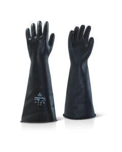Medium Weight 45cm Black Gauntlet Size 10 (Pair)