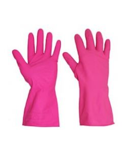 Rubber Gloves M/W Red (12 pairs)