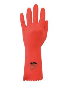 Optima Medium Weight Natural Rubber Glove (Red) (12 Pairs)