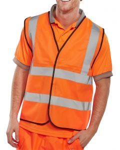 Hi-Vis Orange Waistcoat Large