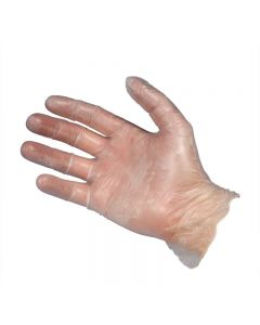 Clear Vinyl Gloves - Small (Box 100)