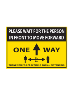 Rectangular Floor Sticker 'One Way' 750mm x 500mm