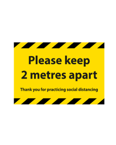 Rectangular Floor Sticker '2m' 750mm x 500mm