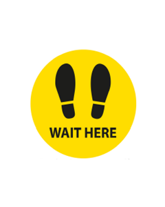 Circular Floor Sticker Wait Here
