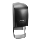 Katrin System Black Toilet Roll Dispenser With Core Catcher