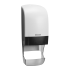 Katrin System White Toilet Roll Dispenser With Core Catcher
