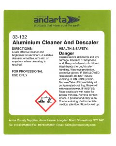Andarta Aluminium Cleaner and Descaler Trigger Spray Label
