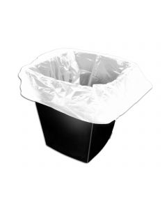 White Light Duty Square Bin Liner 5x9x9