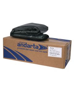 Andarta Black Light Duty Wheelie Bin Liner 30x46x54