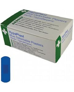 7.5x2.5cm Blue Metal Detectable Plasters
