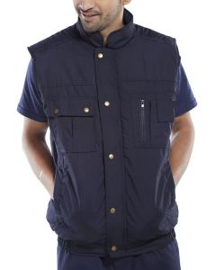 Body Warmer Quilted Navy Medium