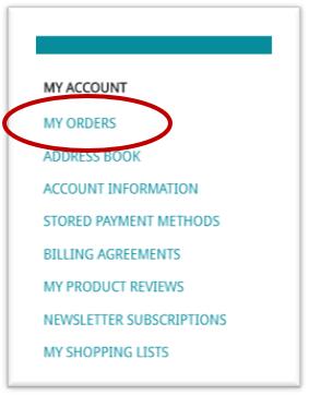 My Orders